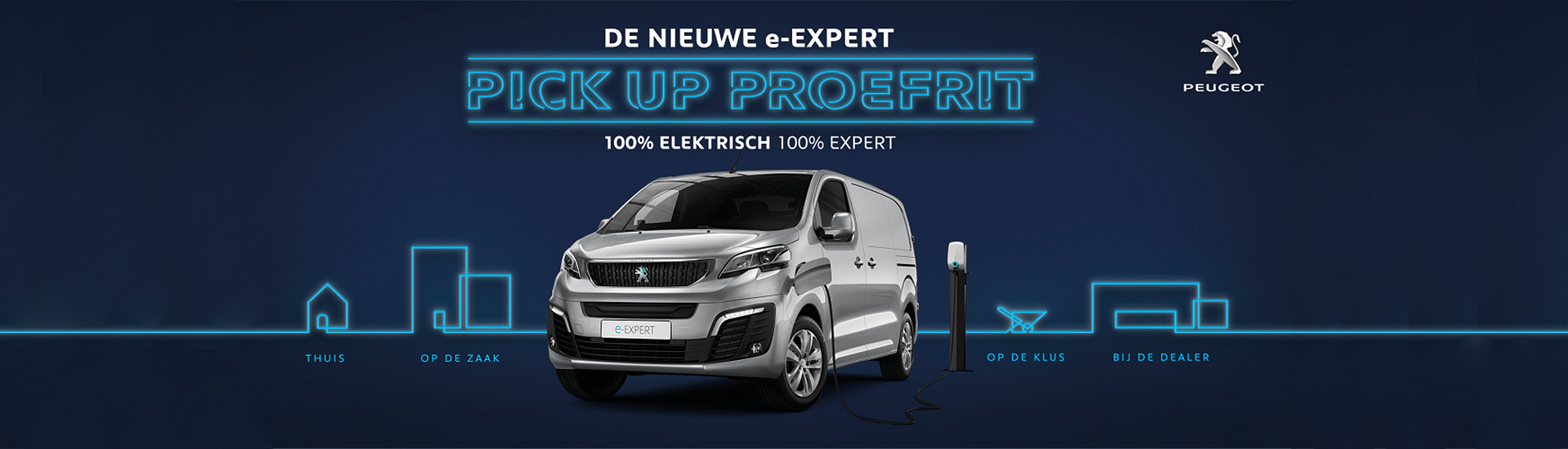 Header home Peugeot Pick Up Proefrit e-Expert